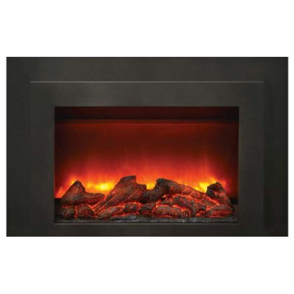 34 Electric Fireplace Insert with Dual Steel Surround