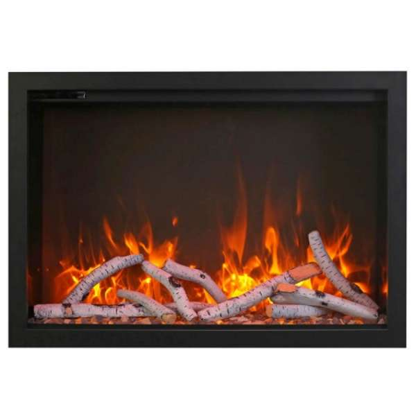 38 Electric Fireplace with Large View