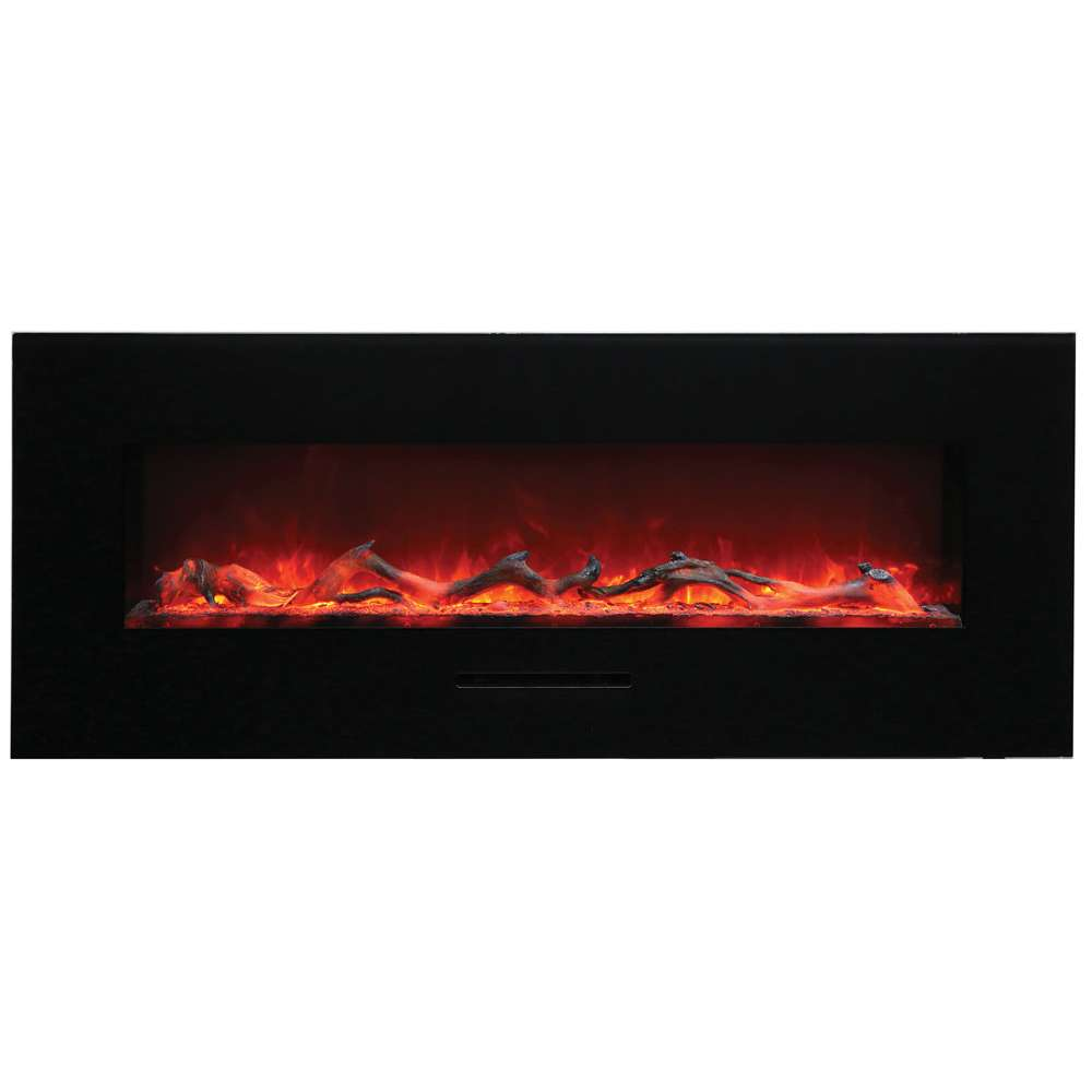 Built-in Flush Mount - Wall Mount 48 Electric Fireplace w-logs