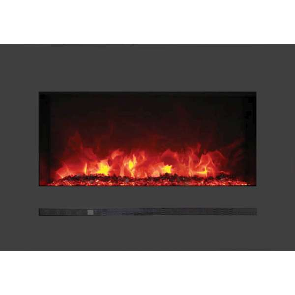 Linear 26 Wall Mount - Flush Mount Electric Fireplace