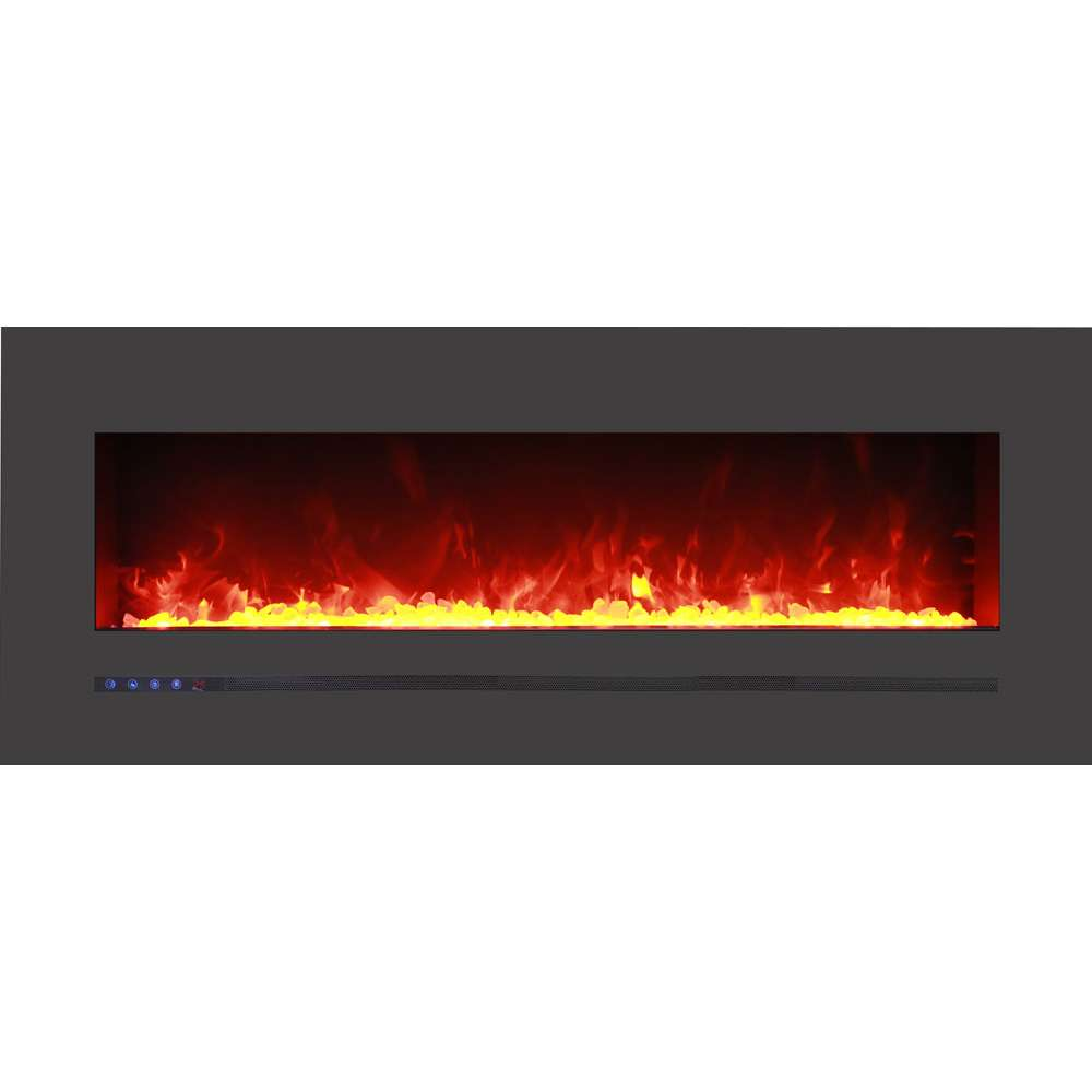 Linear 48 Wall Mount - Flush Mount Electric Fireplace