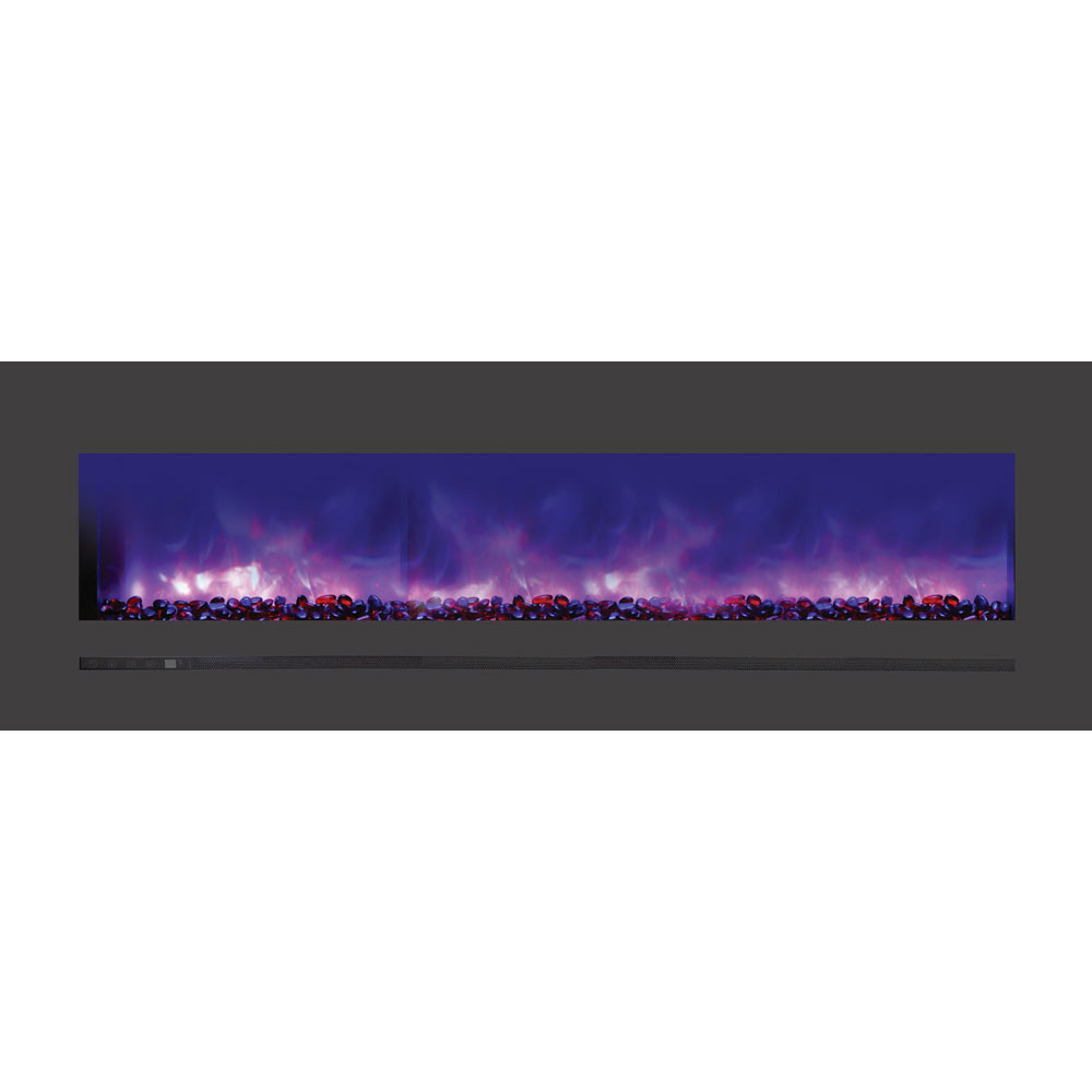 Linear 60 Wall Mount - Flush Mount Electric Fireplace