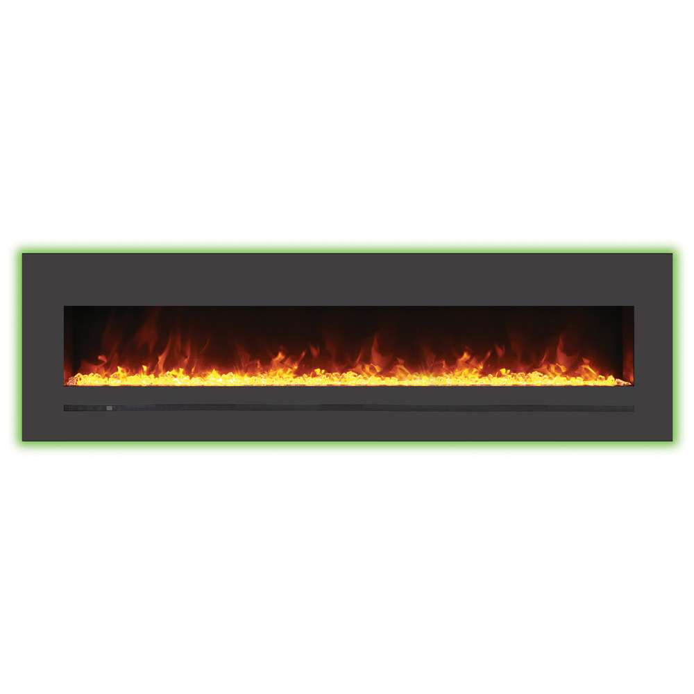 Linear 72 Wall Mount - Flush Mount Electric Fireplace