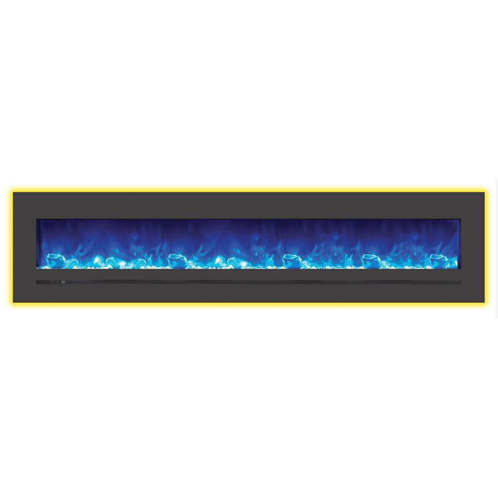 Linear 88 Wall Mount - Flush Mount Electric Fireplace