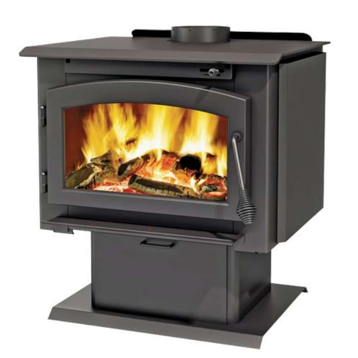 Ambiance Outlander 15 Wood Stove on Pedestal with Ash Pan