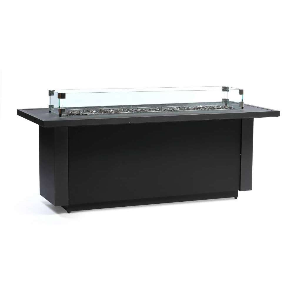 Outdoor Fire Table - (48 Burner) - Black with Gray Accents