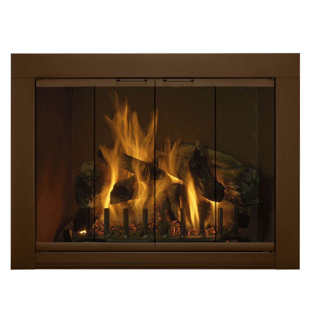 41'' x 28.5'' Medio Fireplace Glass Door
