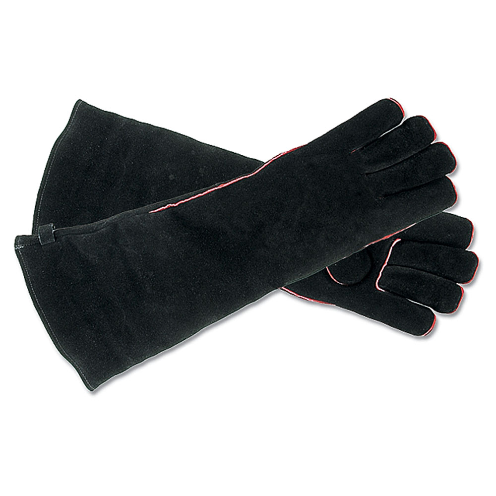 Black Long Hearth Gloves