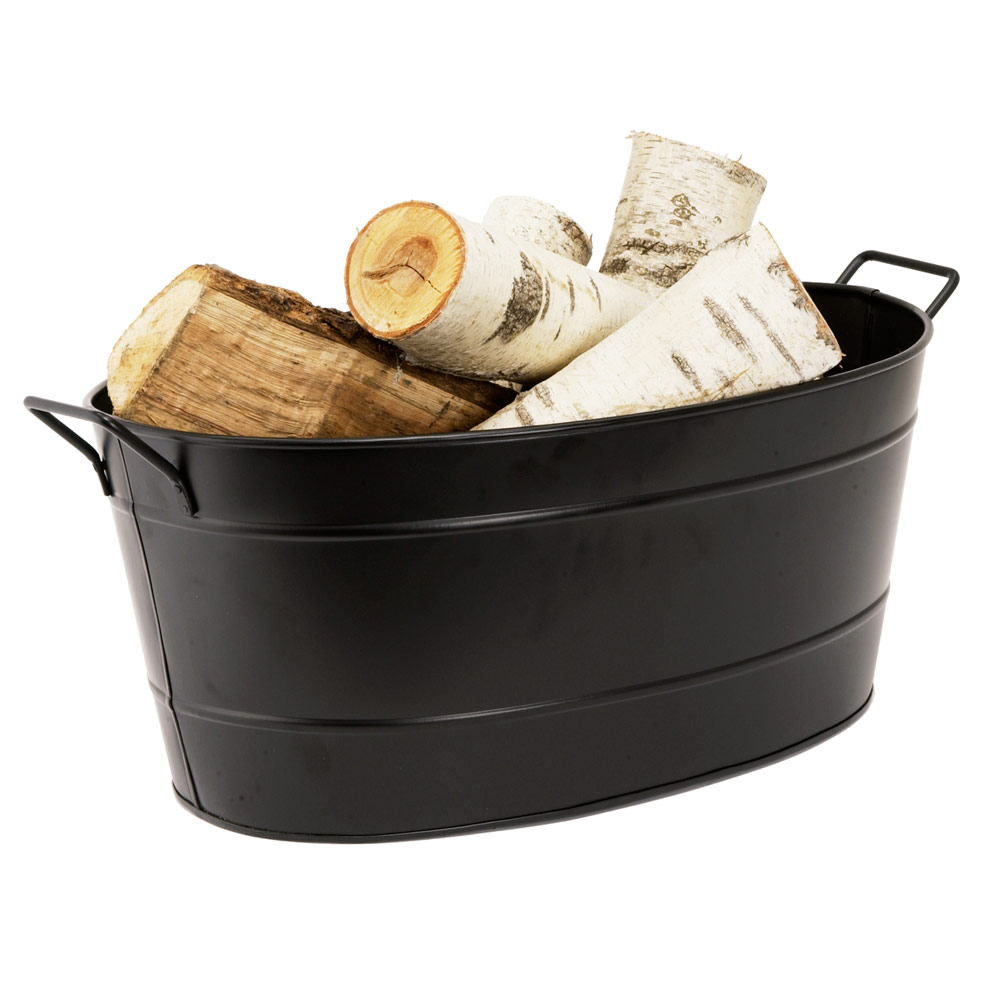 Black Oval Tub