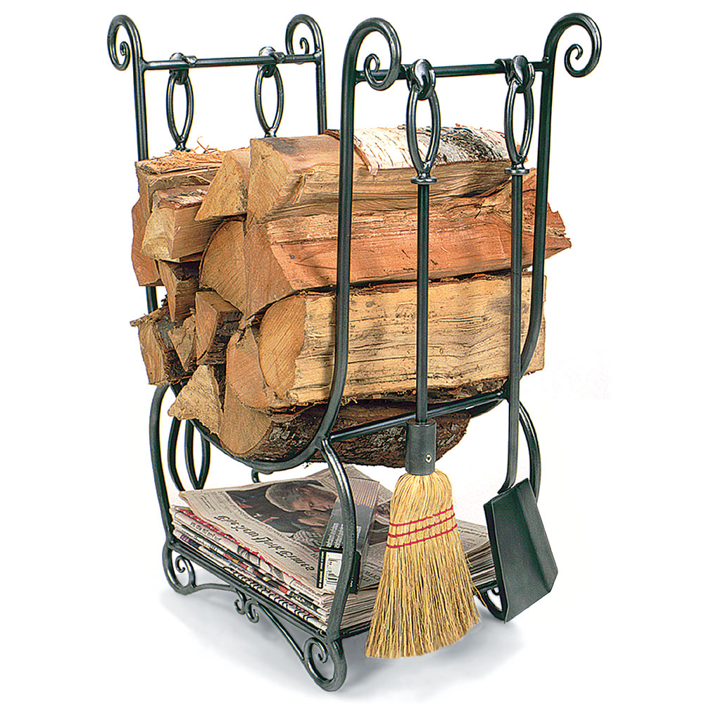 Country Wood Holder w/ Tools