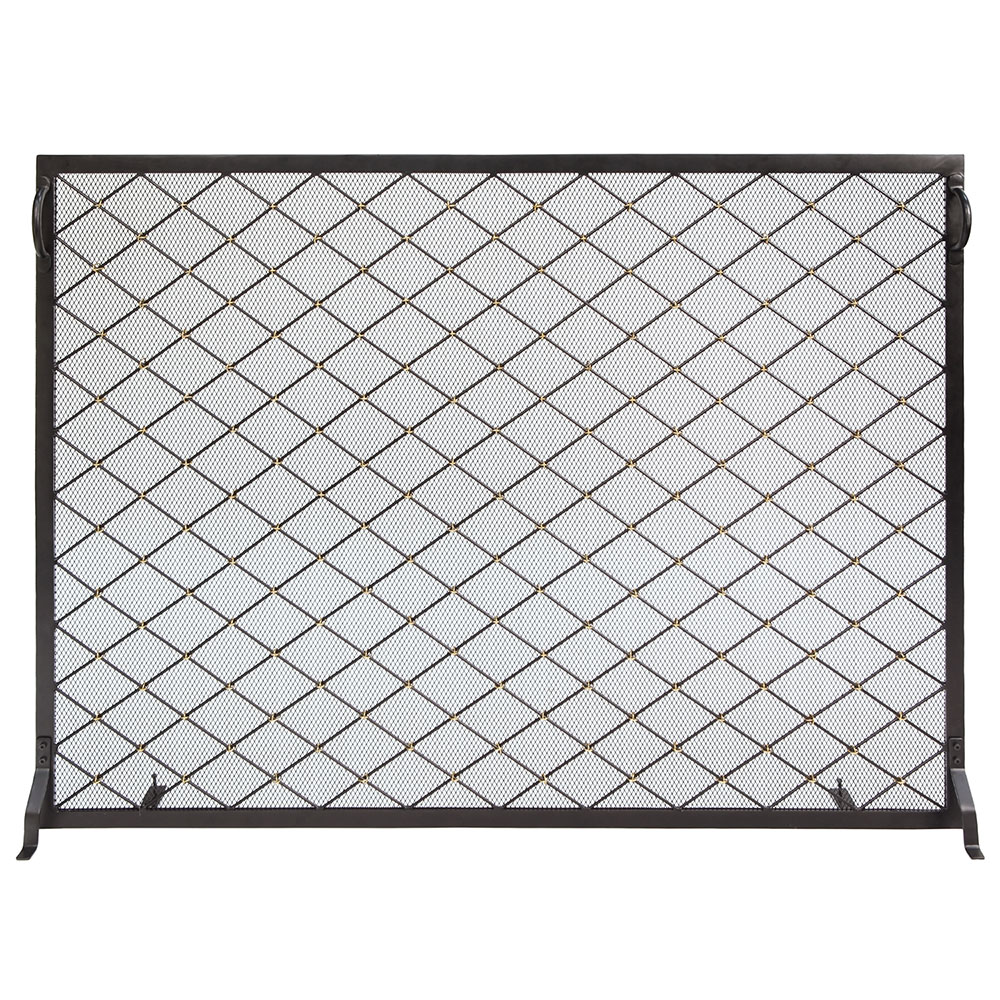 50 x 36-in. Harlequin Flat Fireplace Screen