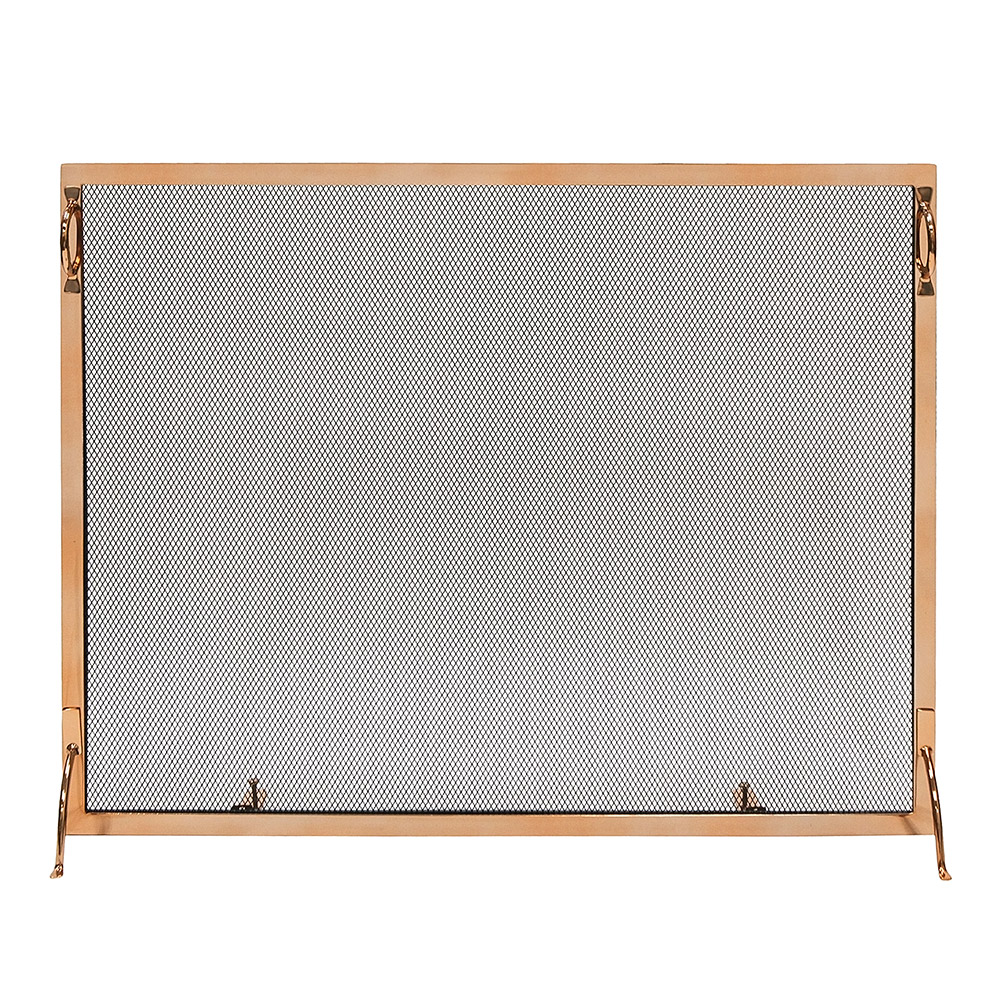 38x30-in Montreal Polished Brass Screen