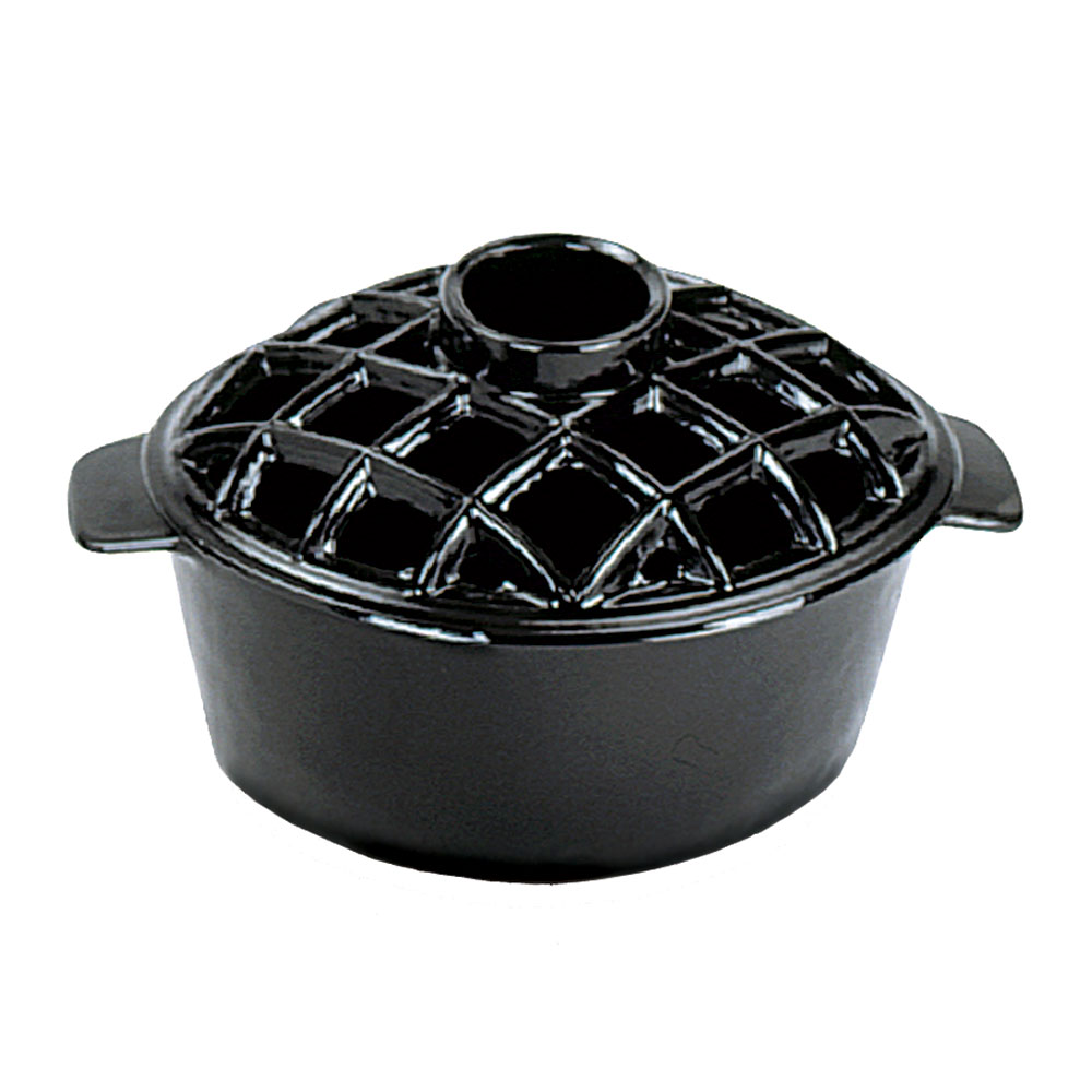 Black Lattice Top Steamer