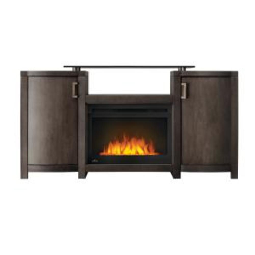 The Whitney Electric Fireplace Entertainment Package