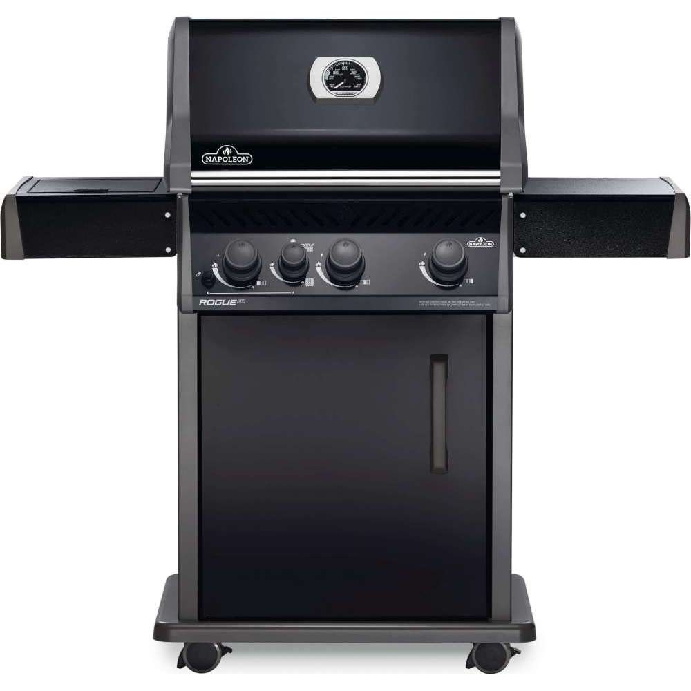 Rogue® XT 425 Natural Gas Grill with Infrared Side Burner, Black