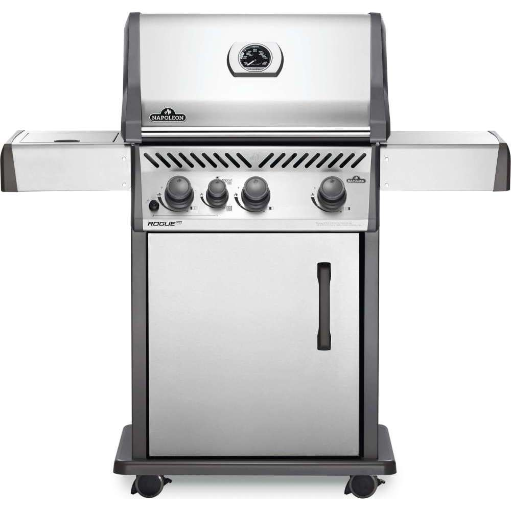 Rogue® XT 425 Natural Gas Grill with Infrared Side Burner, Stainless Steel