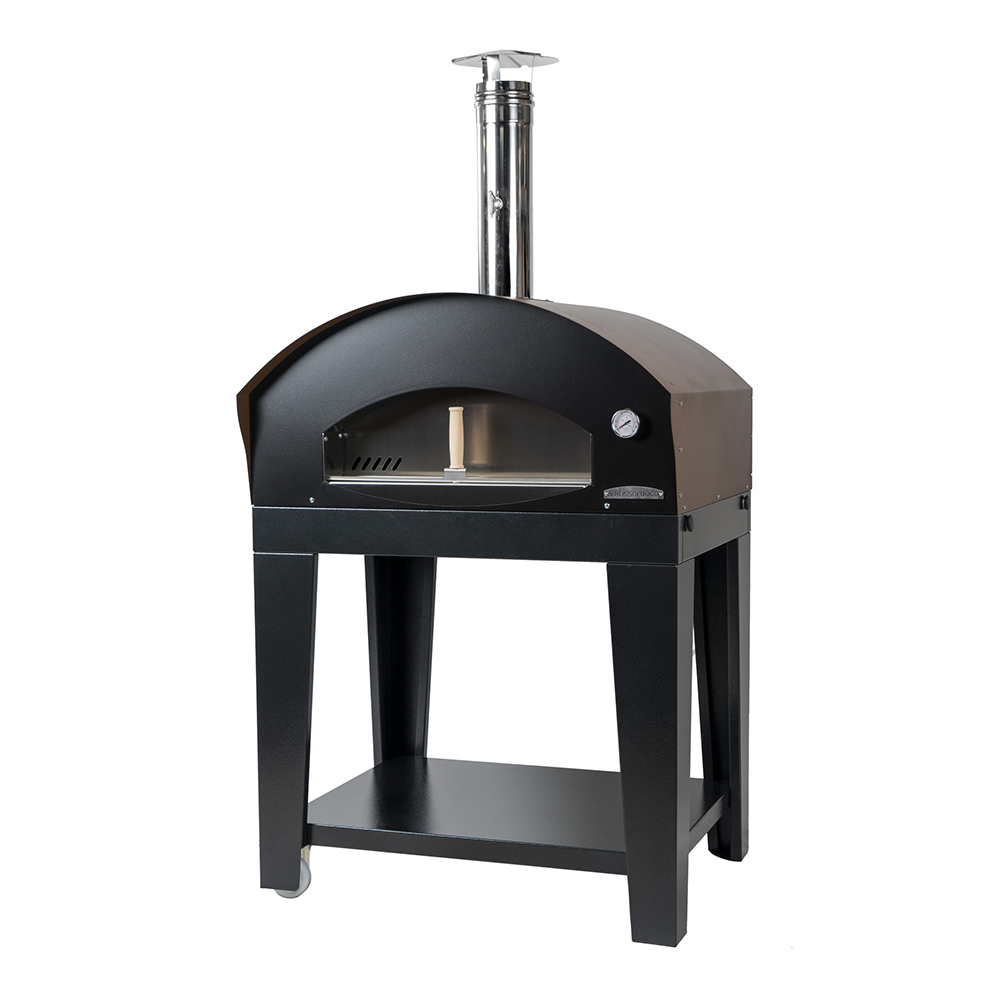Medium Pizza Oven - Brown Benni w Blk Cart