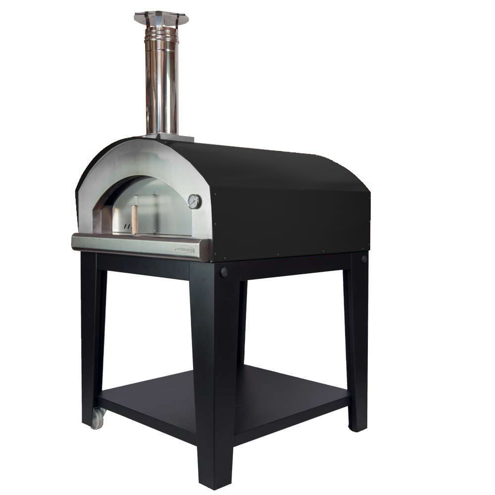 Large Pizza Oven Piu Trecento- Black Gas Fired Pizza Oven