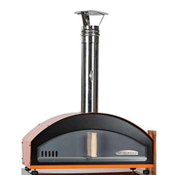 Mino in Orange Powder Coat - Counter Top Pizza Oven