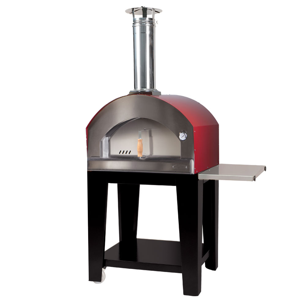 Small Pizza Oven - Campagnolo with Trolley Varnished (RED)