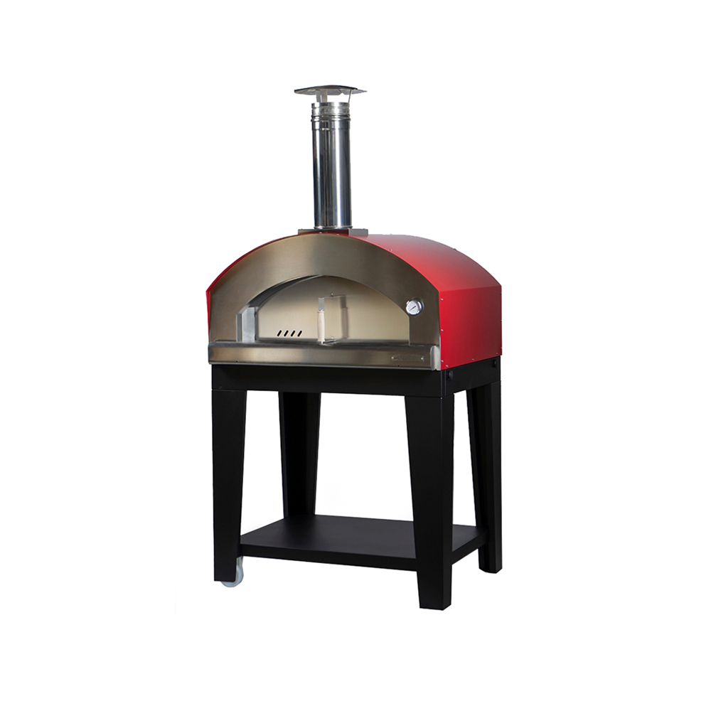 Medium Pizza Oven -Nonna Luisa Red - Trolley Varnished
