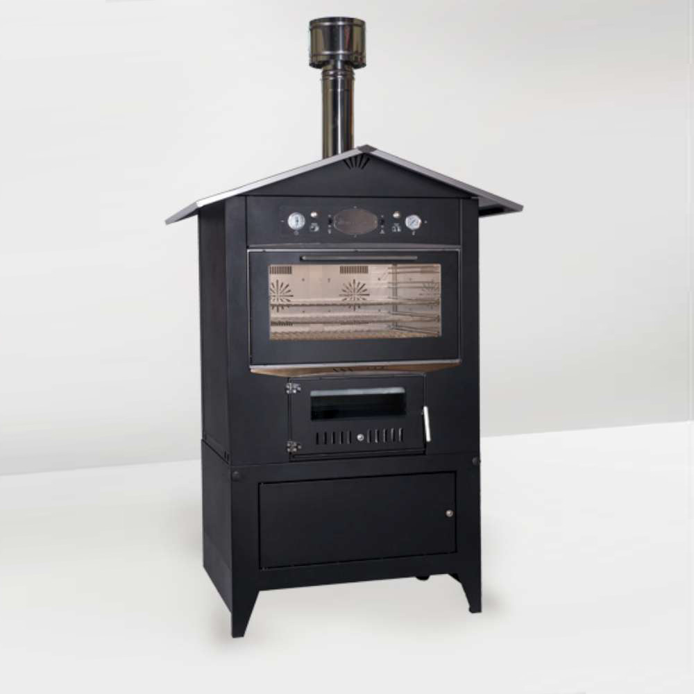 Sedicinoni Series Black XL Outdoor Pizza Oven Inc Cart, 2 vent fans, valvesY