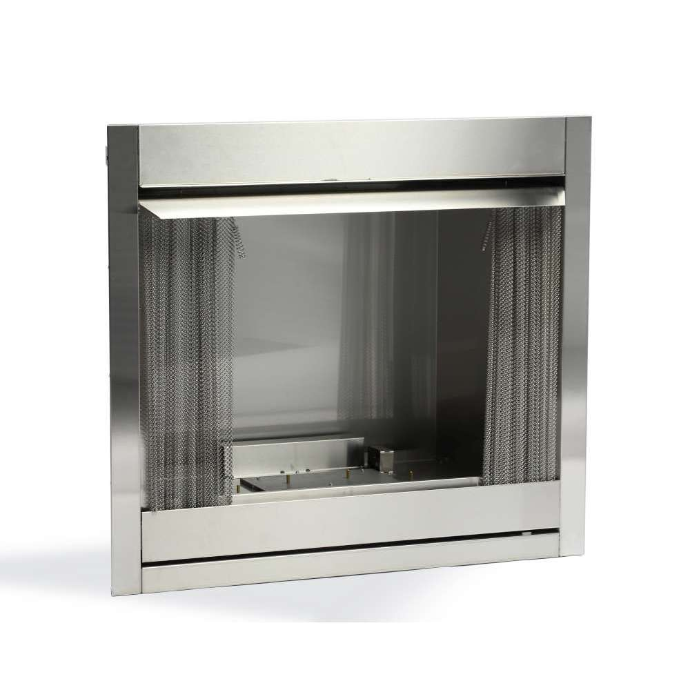 Outdoor Fireplace, Stainless Steel, Millivolt  Natural Gas