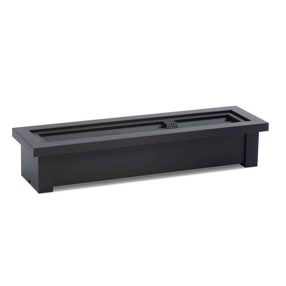 Fire Stand with Linear Burner 24 - Natural Gas  Powder Coat Black Top