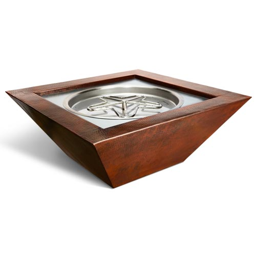 HPC Fire Sedona Copper Bowl with Electronic Ignition Penta Burner