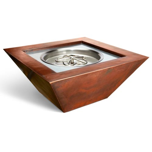 HPC Fire Sierra Smooth Copper Bowl with 12-inch Electronic Ignition Penta Propane Burner