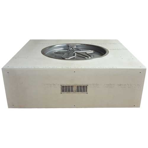 HPC Fire Square Enclosure with 25-inch manual Ignition Penta Burner Insert