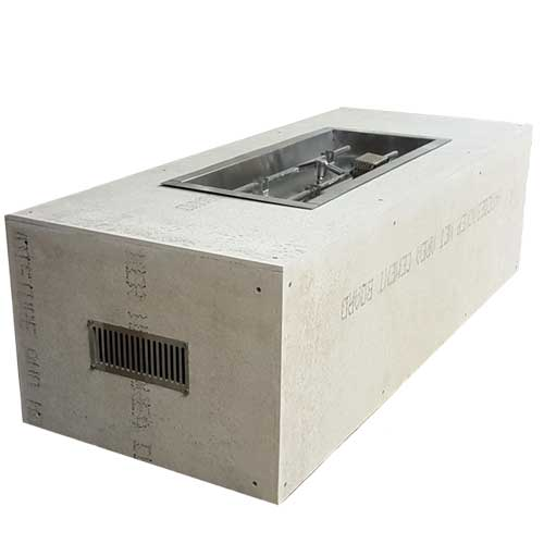 HPC Fire Rectangle Enclosure with 36-inch H-Burner Insert with manual ignition
